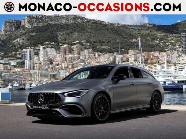 Mercedes-Benz-CLA Shooting Brake-45 AMG S 421ch 4Matic+ 8G-DCT Speedshift AMG-Occasion Monaco
